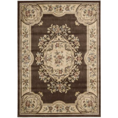 Chateau/W9 Brown Area Rug Rug Size: 33 x 53