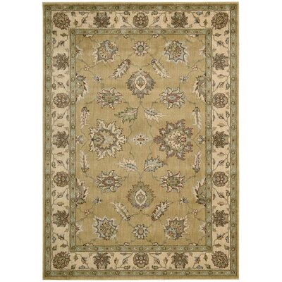 Baum Light Gold Rug Rug Size: 23 x 39