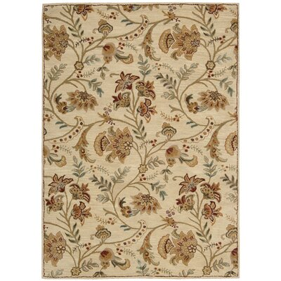 Broomhedge Cream Area Rug Rug Size: 53 x 74