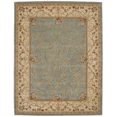 Axella Hand-Tufted Turquoise Area Rug