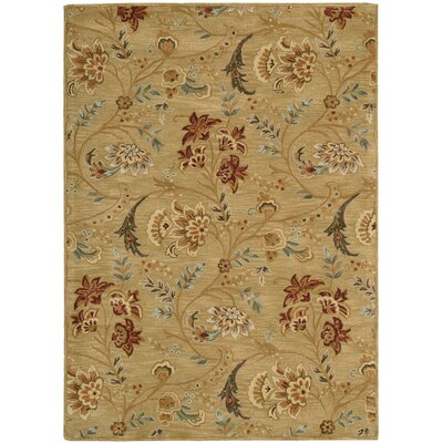 Broomhedge Gold Area Rug Rug Size: Rectangle 53 x 74