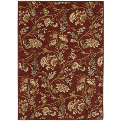 Broomhedge Red Area Rug Rug Size: 8 x 11