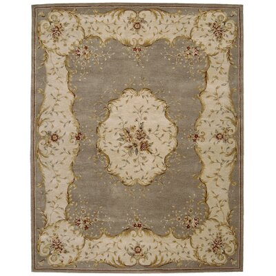 Heritage Savannerie Hand-Tufted Coffee Area Rug Rug Size: 56 x 86