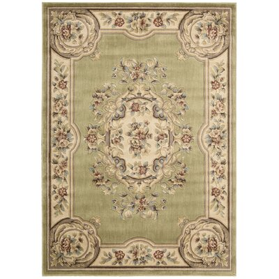 Chateau/W9 Light Green Area Rug Rug Size: 33 x 53