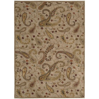 Broomhedge Beige Area Rug Rug Size: Rectangle 53 x 74