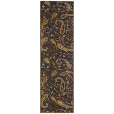 Broomhedge Charcoal Area Rug Rug Size: Runner 23 x 8