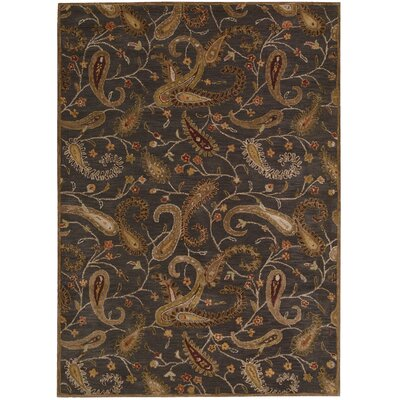Broomhedge Charcoal Area Rug Rug Size: Rectangle 53 x 74