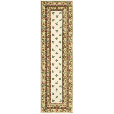 Kendall Ivory Rug Rug Size: Runner 23 x 8
