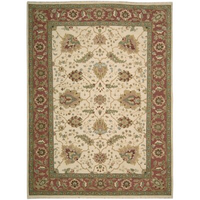 Suf I Noor Hand-Woven Ivory Area Rug Rug Size: 310 x 510