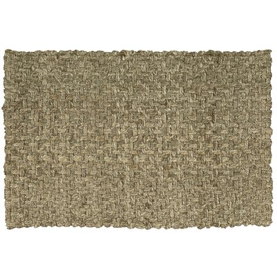 Basketweave Silver Area Rug Rug Size: 2 x 3