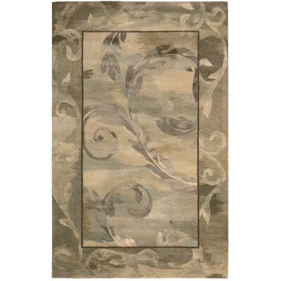 Reflections Taupe Rug Rug Size: 39 x 59
