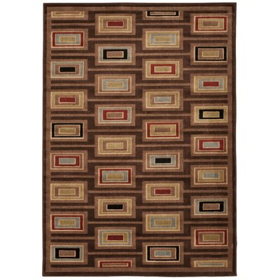 Prestige Brown Area Rug Rug Size: 36 x 56