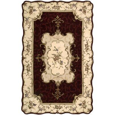 Serenata Burgundy Rug Rug Size: 76 x 96