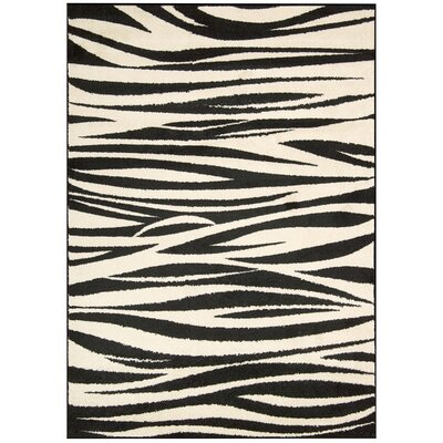 Pimm Black/White Area Rug Rug Size: Rectangle 23 x 39