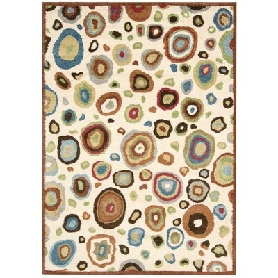 Asterope Ivory Area Rug Rug Size: Rectangle 53 x 75