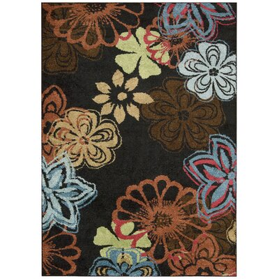 Perception Black Area Rug Rug Size: 79 x 1010