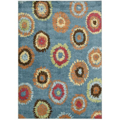 Perception Blue Area Rug Rug Size: Runner 23 x 76
