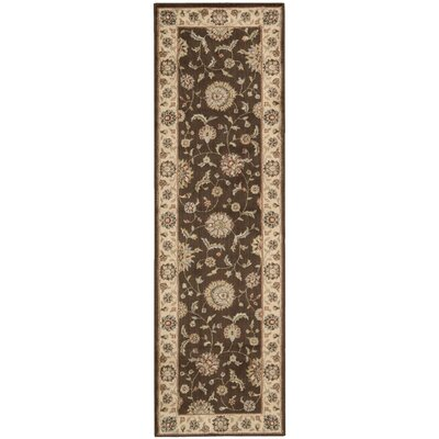 Baum Brown Rug Rug Size: Runner 23 x 76