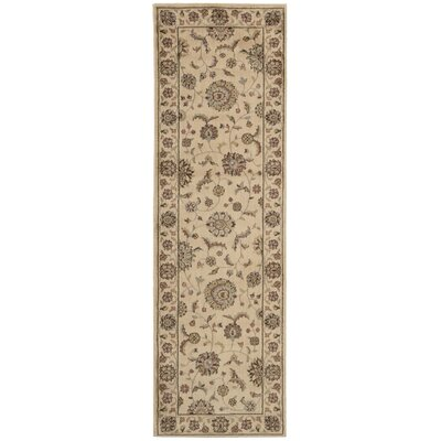 Baum Ivory and Ivory Rug Rug Size: Runner 23 x 76