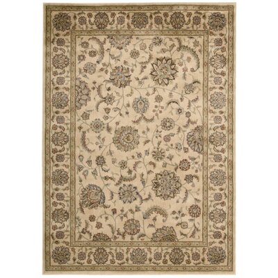 Baum Ivory and Ivory Rug Rug Size: Rectangle 53 x 75