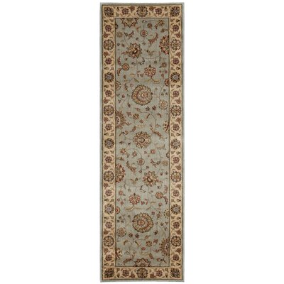 Baum Light Blue Area Rug Rug Size: Runner 2'3 x 7'6