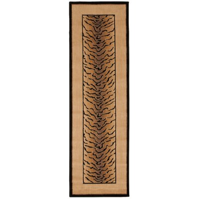 Pheasant Hill Ivory and Black Rug Rug Size: Rectangle 36 x 56
