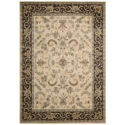 Cantrell Ivory and Brown Rug Rug Size: Rectangle 53 x 75