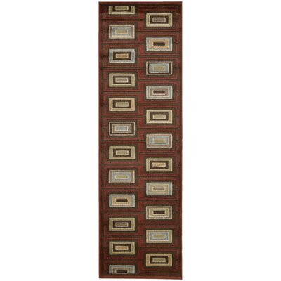 Whitestown Burgundy Rug Rug Size: Runner 23 x 76