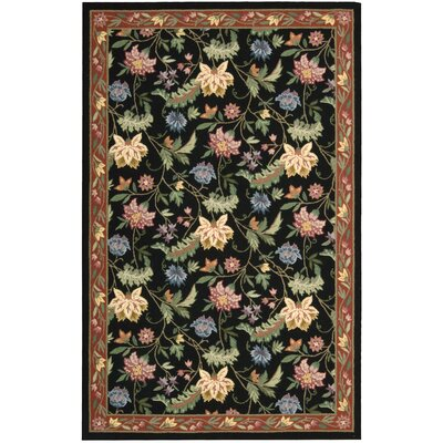 Country Heritage Black Rug Rug Size: 19 x 29