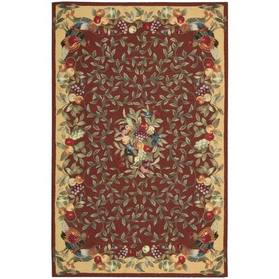 Kendall Hand-Hooked Brick Area Rug Rug Size: 19 x 29