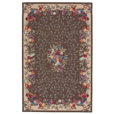 Kendall Hand-Hooked Khaki Area Rug Rug Size: Rectangle 8 x 11