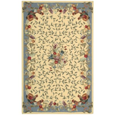 Kendall Hand-Hooked Yellow Area Rug Rug Size: 19 x 29