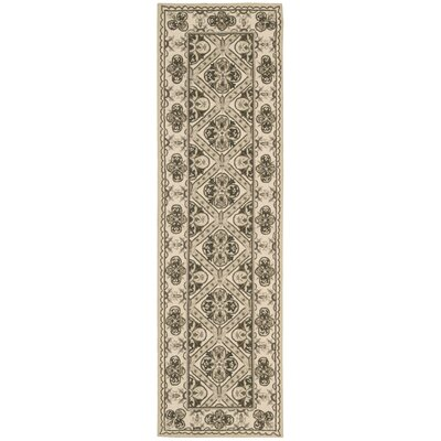 Country Heritage Hand-Hooked Brown Area Rug Rug Size: Runner 23 x 8