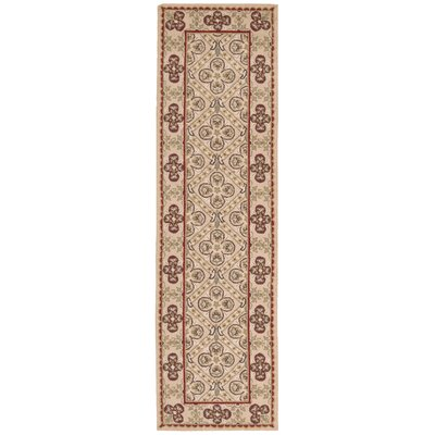 Ehrenfeld Hand-Hooked Gold Area Rug Rug Size: Runner 23 x 8