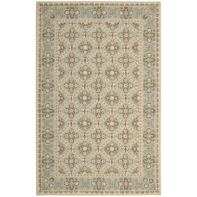 Ehrenfeld Hand-Hooked Sky Area Rug Rug Size: Rectangle 76 x 96