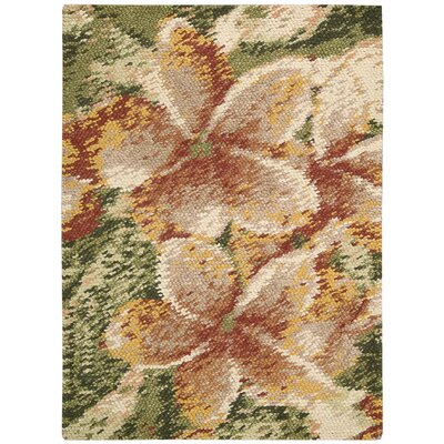 Dowden Hand-Woven Green/Beige Area Rug Rug Size: 8 x 10