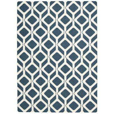 Enhance Cadet Blue Area Rug Rug Size: 26 x 4