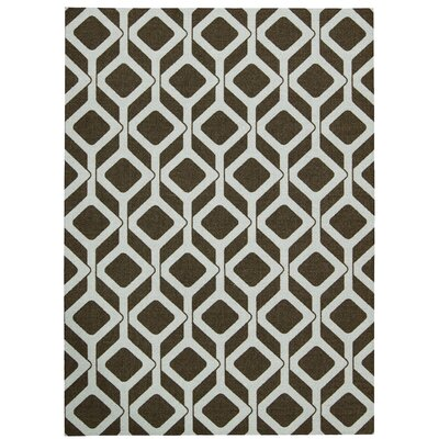 Enhance Chocolate/White Area Rug Rug Size: 26 x 4