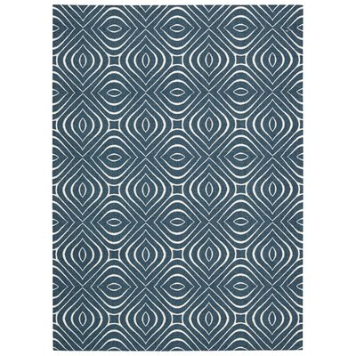 Conforti Cadet  Blue Geometric Area Rug Rug Size: Rectangle 8 x 10