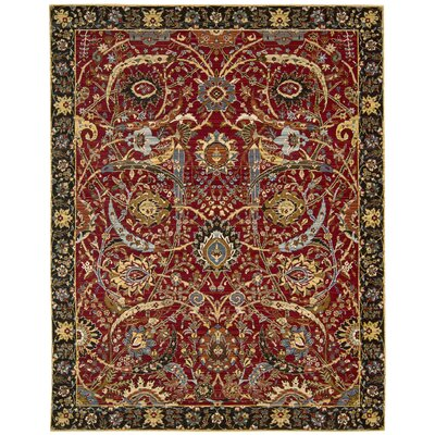 Rhapsody Red Area Rug Rug Size: 79 x 99