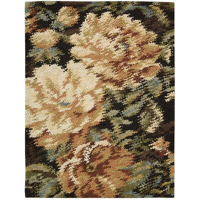 Dowden Hand-Woven Black/Beige Area Rug Rug Size: 56 x 76