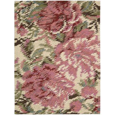 Impressionist Hand-Woven Pastel Area Rug Rug Size: 8 x 10