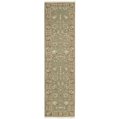 Nourmak Encore Hand-Woven Chocolate/Mint Area Rug Rug Size: Runner 26 x 10