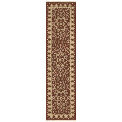 Nourmak Encore Red Area Rug Rug Size: Runner 26 x 10
