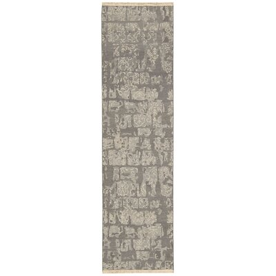 Nourmak Encore Hand-Woven Light Taupe Area Rug Rug Size: Runner 26 x 10