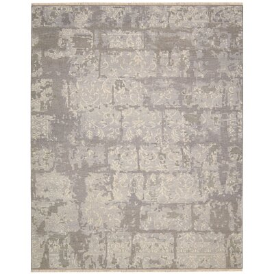 Nourmak Encore Hand-Woven Light Taupe Area Rug Rug Size: 79 x 99