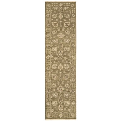 Nourmak Encore Hand-Woven Cocoa Area Rug Rug Size: Runner 26 x 10