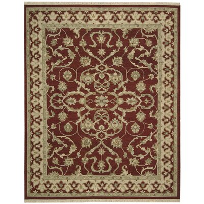 Nourmak Encore Red Area Rug Rug Size: 79 x 99