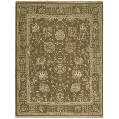 Nourmak Encore Hand-Woven Cocoa Area Rug Rug Size: 56 x 75