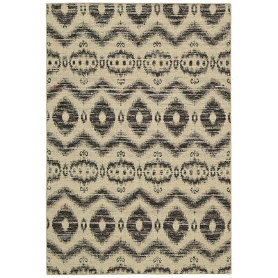 Pine Grove Hand-Woven Beige/Black Area Rug Rug Size: Rectangle 26 x 4